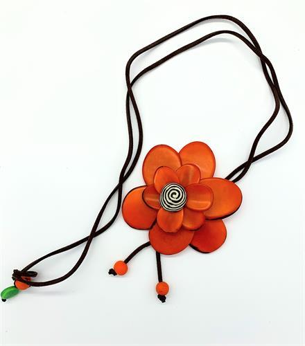 פרח 3D כתום