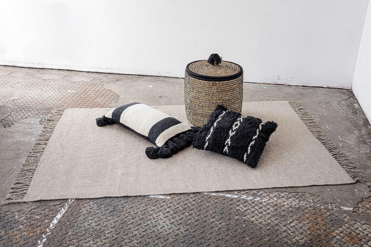 שטיח כותנה אריגה שטוחה - אבן