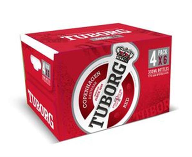 ארגז בירה טובורג אדום 24 יח'