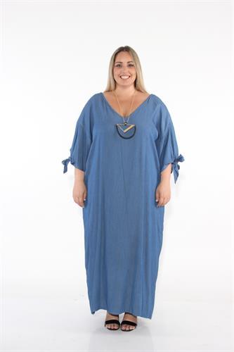 שמלת סרינה ג'ינס כחול