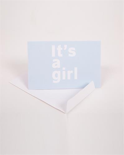כרטיס ברכה It's a girl
