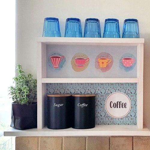 כוננית מדפים תה/קפה/סוכר דגם ג'סיקה