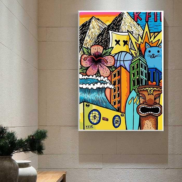תמונת זכוכית למשרד של האמן כפיר תג'ר