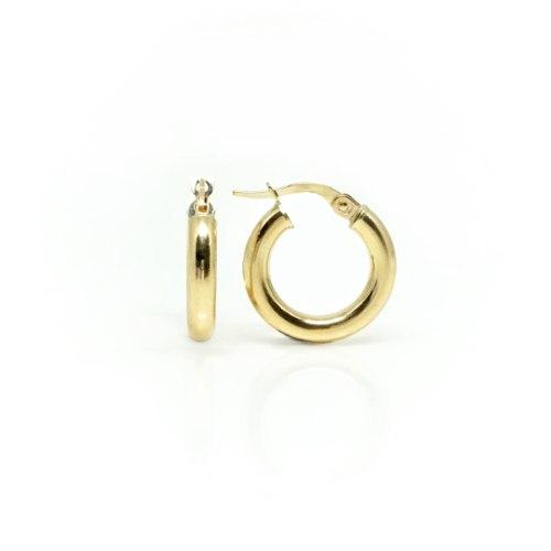 עגילי זהב רחבים 1.5 סמ