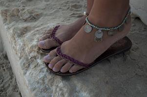 צמיד רגל ג'יפסי עבודת יד