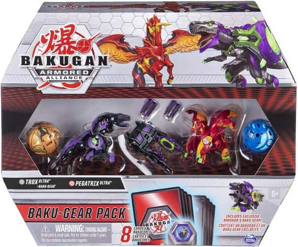 Bakugan Baku-Gear 4-Pack, Trox Ultra with Baku-Gear and Pegatrix Ultra