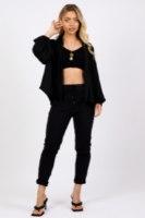 חולצת טיאה שחורה