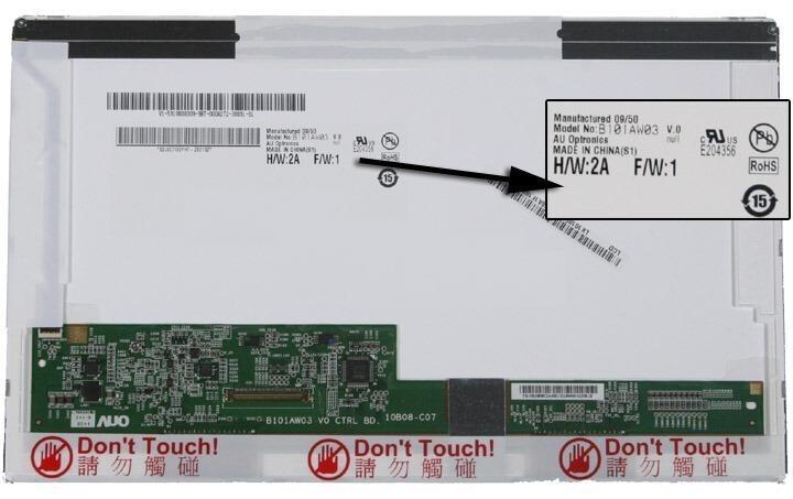 החלפת מסך למחשב נייד אייסרAcer Aspire One D150 / D250 10.1 inch LED