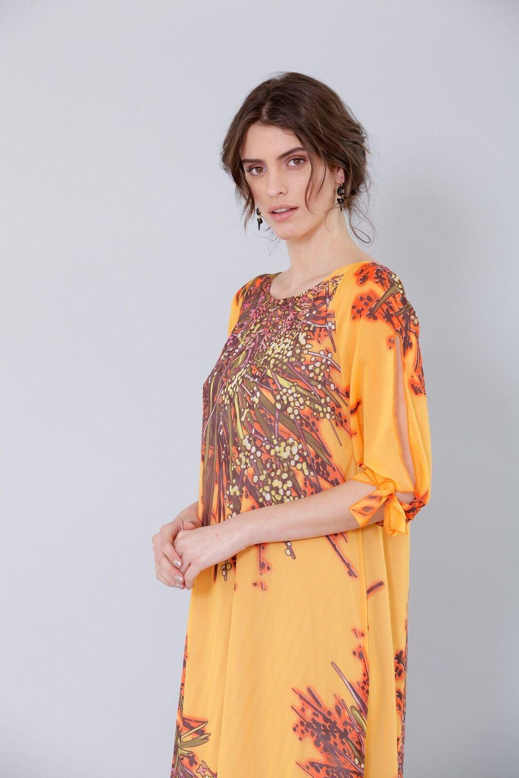 שמלת אנה צהובה