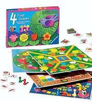 4 משחקים ראשונים - ארבעה משחקי לוח בשילוב צבעים Ravensburger