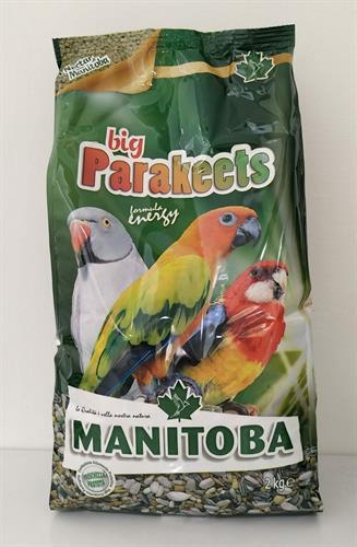 תערובת big Parakeets energy MANITOBA מניטובה אנרג'י לפרקיטים גדולים 2 ק''ג