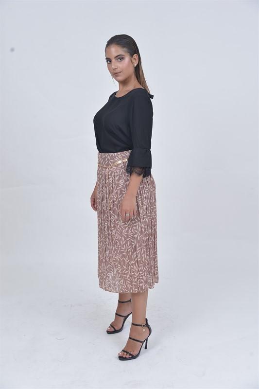 חצאית עלים