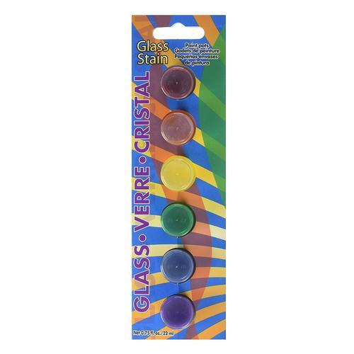 """סט צבעי זכוכית שקופים 22 מ""""ל  DAPK25"""