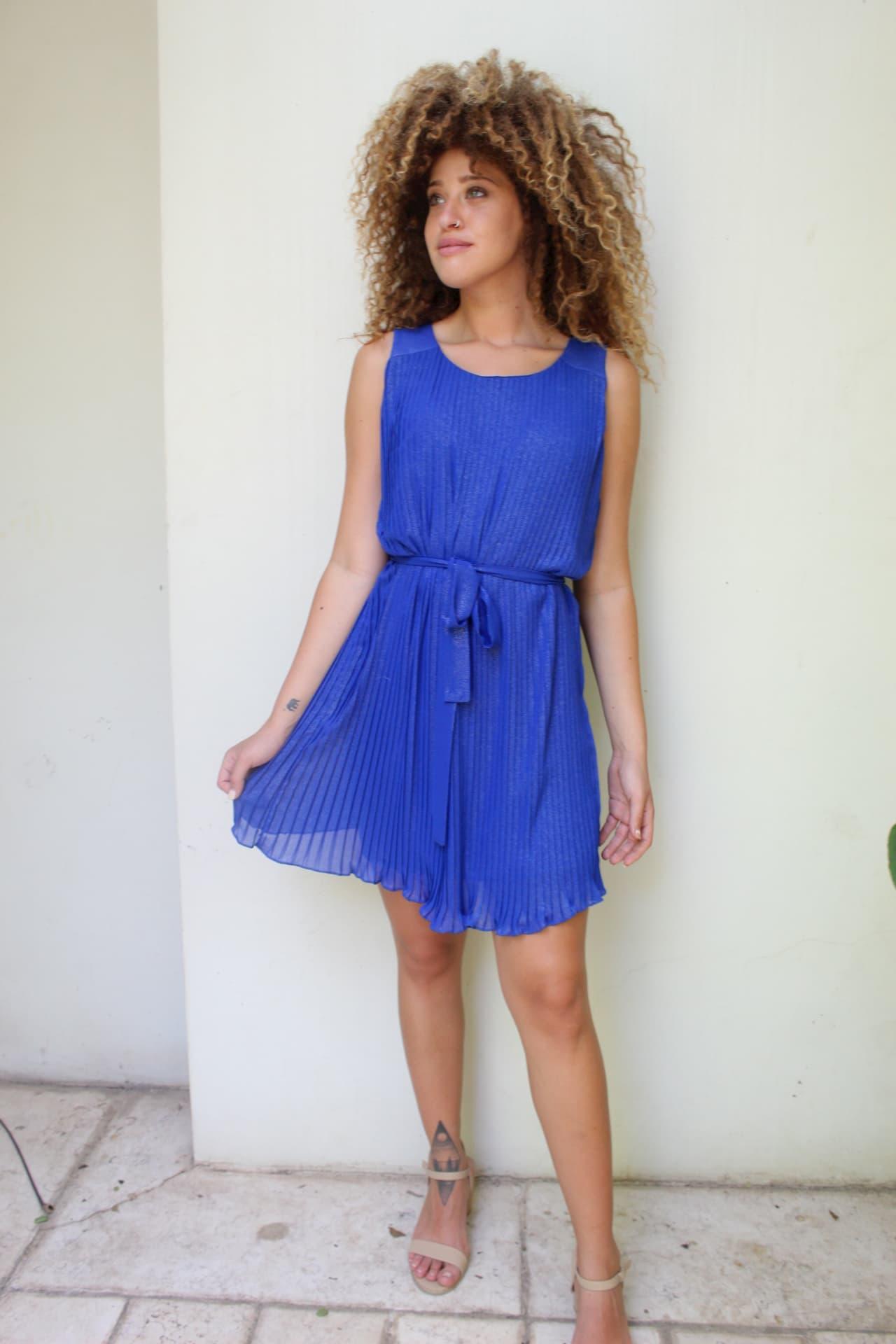 שמלת אודרי כחולה