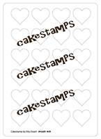 Heart shape plastic Stencils Mat for Chocolate