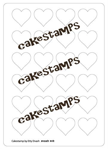 Heart shape plastic Stencils Mat for Chocolate