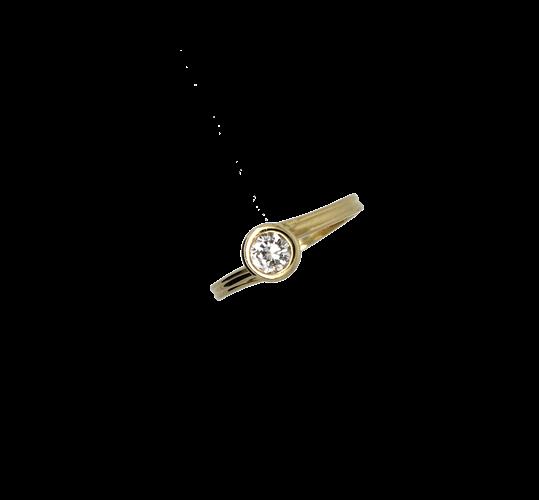 טבעת אירוסין זהב צהוב 18K יהלום מרכזי MY121301236XX