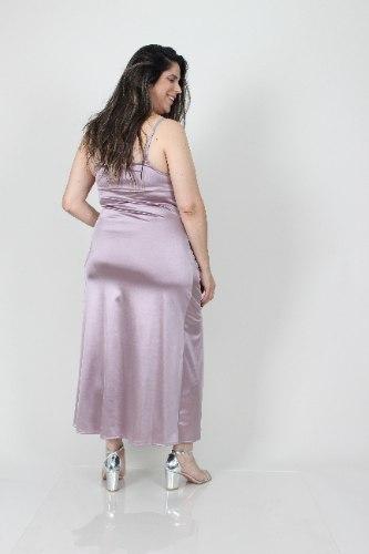 שמלת לייני סגלגל סאטן