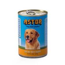 """מגש שימורי מזון רטוב לכלבים אסטור עוף 400 גרם 24 י""""ח"""