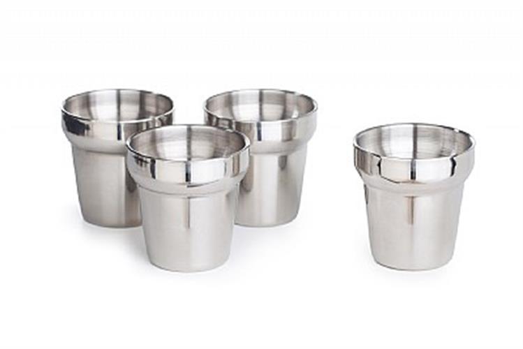 """סט 4 כוסות נירוסטה דופן כפולה - 180 מ""""ל"""