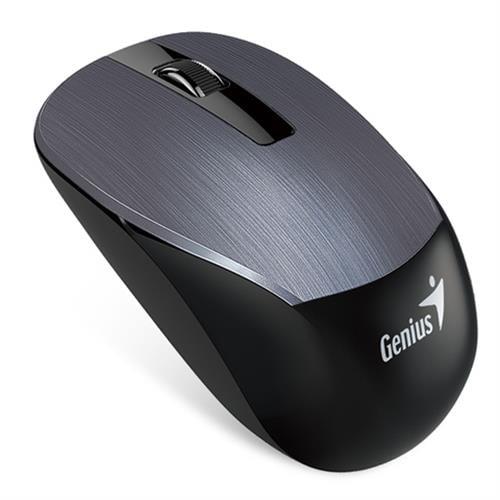 עכבר אלחוטי למחשב נייד Genius NX-7015 בצבע אפור כהה מוברש