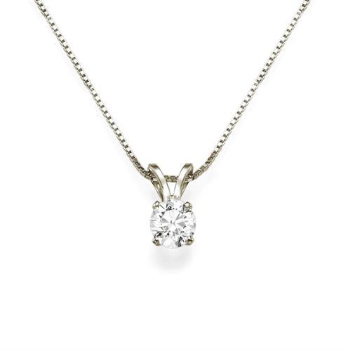 שרשרת יהלום | תליון יהלום 0.25 קראט | שרשרת יהלום בסגנון סוליטר (בודד) 0.25 קראט בזהב 14 קאראט
