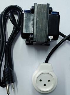 """שנאי מעלה מתח 110V  ל  220V 100W לשימוש בחו""""ל במתח 110V"""