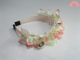קשת פרחים ורודים רשת וצדפים - קשת פרחונית