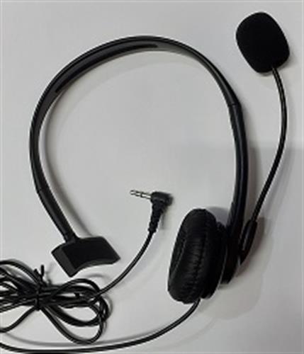 """אוזניות עם מיקרופון אוזן אחת תקע 3.5 מ""""מ לטלפון ולמחשב"""