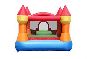 מתקן קפיצה הטירה עם מגלשה - 9017N - Castle Bouncer With Slide Happy Hop