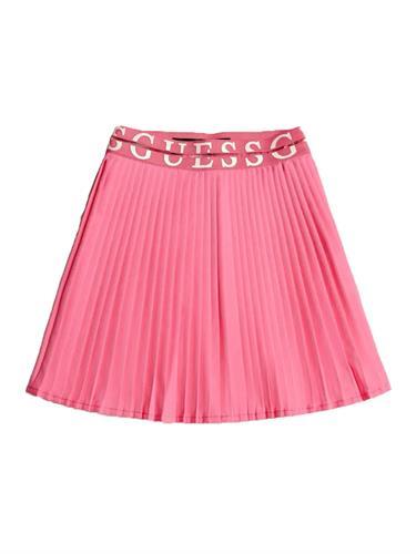 חצאית פליסה GUESS ורודה