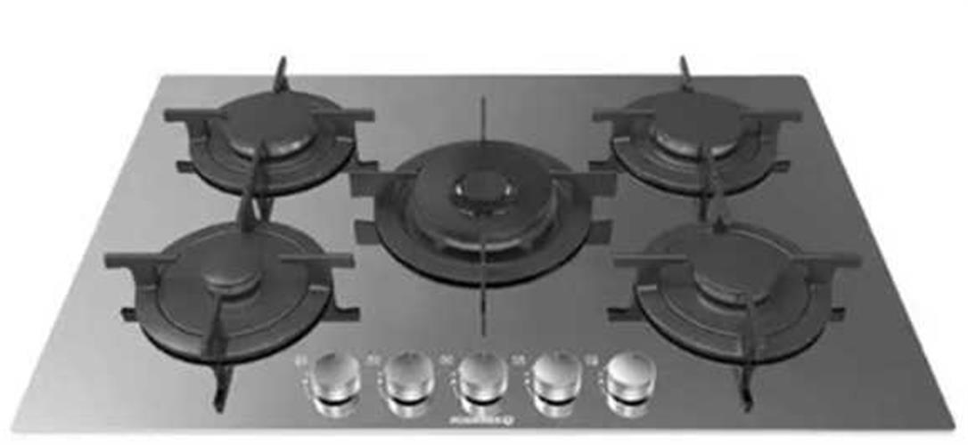 "ROSIERES   כיריים ברוחב 75 ס""מ דגם RGV-75WFMIX"