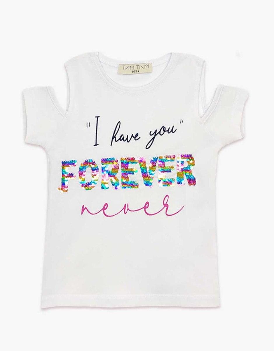חולצת בנות טריקו מעוצבת forever