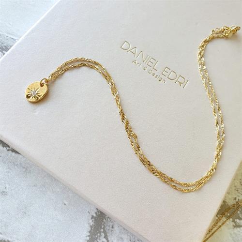 שרשרת קלייר- ציפוי זהב