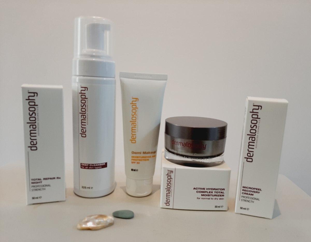 דרמלוספי - ערכת טיפול לעור קורן וצעיר! (הערכה מכילה 4 מוצרים)