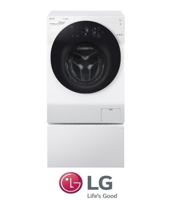 "LG מכונת כביסה 12 ק""ג + 2 ק""ג TWINWASH + מייבש דגם F1208CWT"
