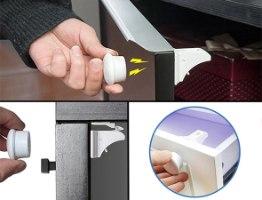 מנעול מגנטי בטיחותי לארונות ומגירות