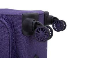 סט 3 מזוודות SWISS ALPINE בד קלות וסופר איכותיות - צבע סגול כהה