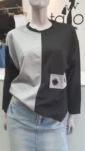 חולצת שתי הצבעים