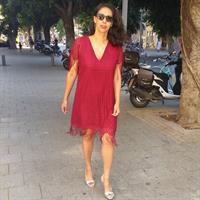 שמלת HIGH אמבר קרושה בורדו פרנזים
