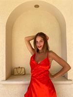 שמלת ליילה אדומה