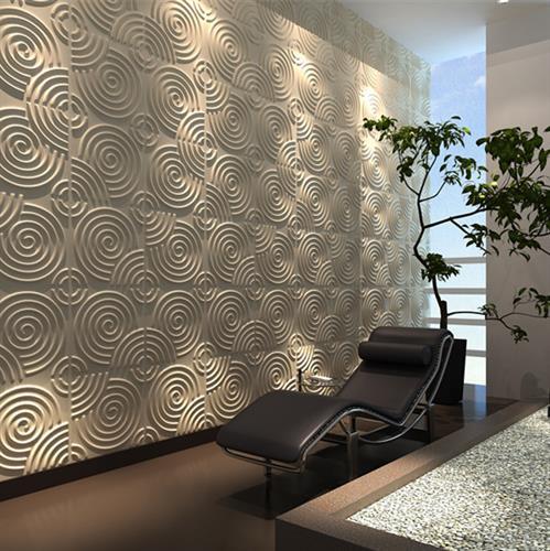 חיפויי קיר תלת מימדי דגם ''ripple'' בגודל 50X50