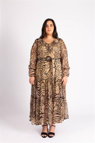 שמלת ג'יין מנומרת