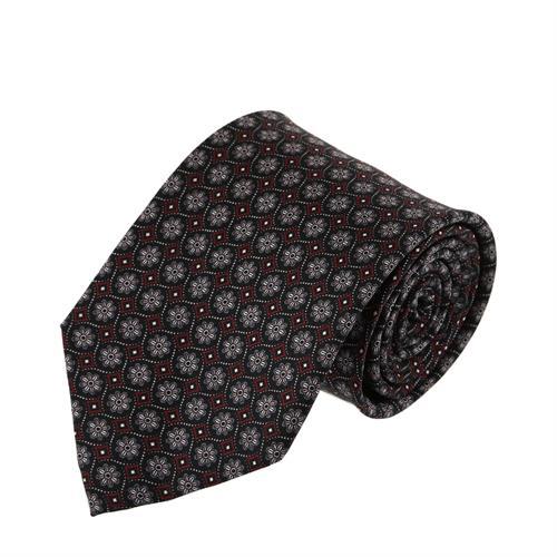 עניבה פרחים מעויינים בורדו שחור