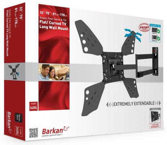 מתקן תליה לטלוויזיה זרועות ברקן 3400L