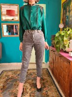 מאם ג'ינס צבע שחור מידה S