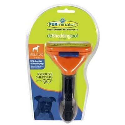 מברשת פרמינטור מדיום מקורית לכלבים בינוניים עם שיער קצר - Furminator פרמינטור - Furminator