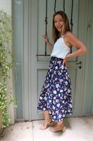 חצאית מעטפת פרחים גדולים כחול