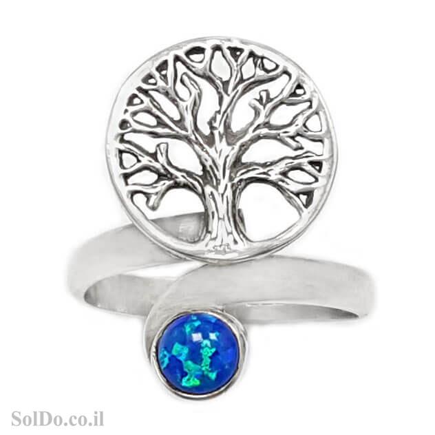 טבעת עץ החיים מכסף משובצת אופאל  RG6099 | תכשיטי כסף 925 | טבעות כסף
