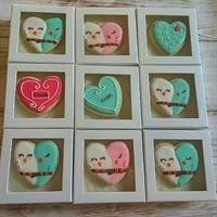 עוגית לב ציפורים בקופסא